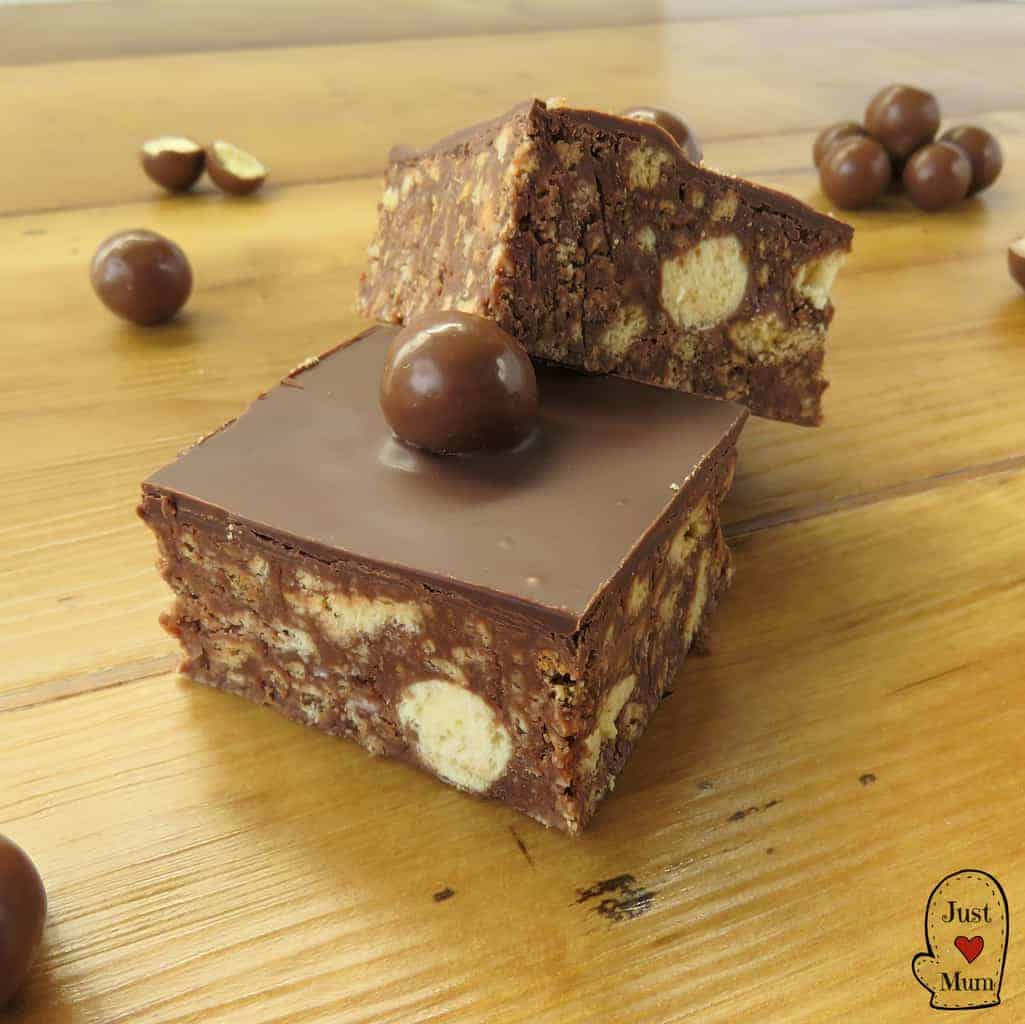 Just A Mum's Maltesers No-Bake Slice