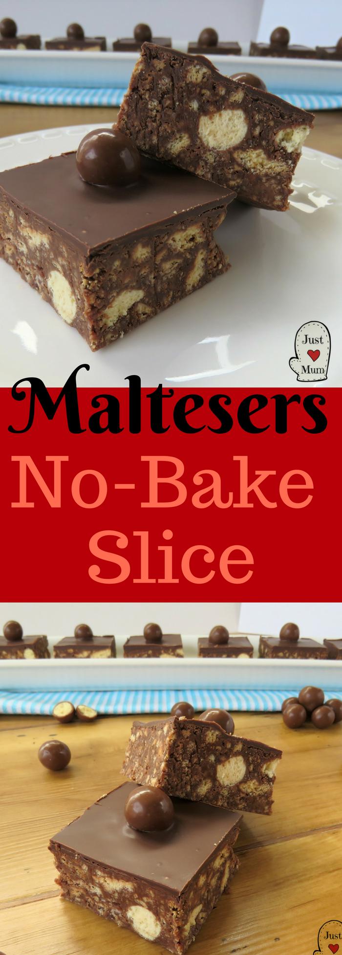 Just A Mum's No Bake Malteser Slice Recipe
