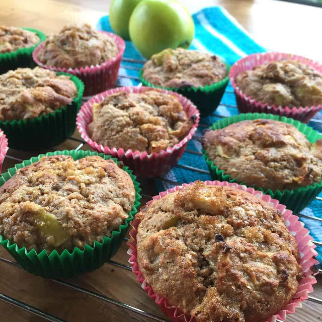 Just A Mum's Healthy Apple & Maple Syrup Muffins