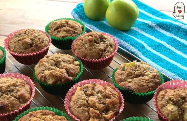 Healthy Apple & Maple Syrup Muffins