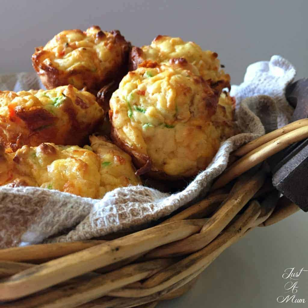 Vege Loaded Muffins - Just A Mum