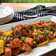 Roasted Kumara, Carrot & Orange Summer Salad