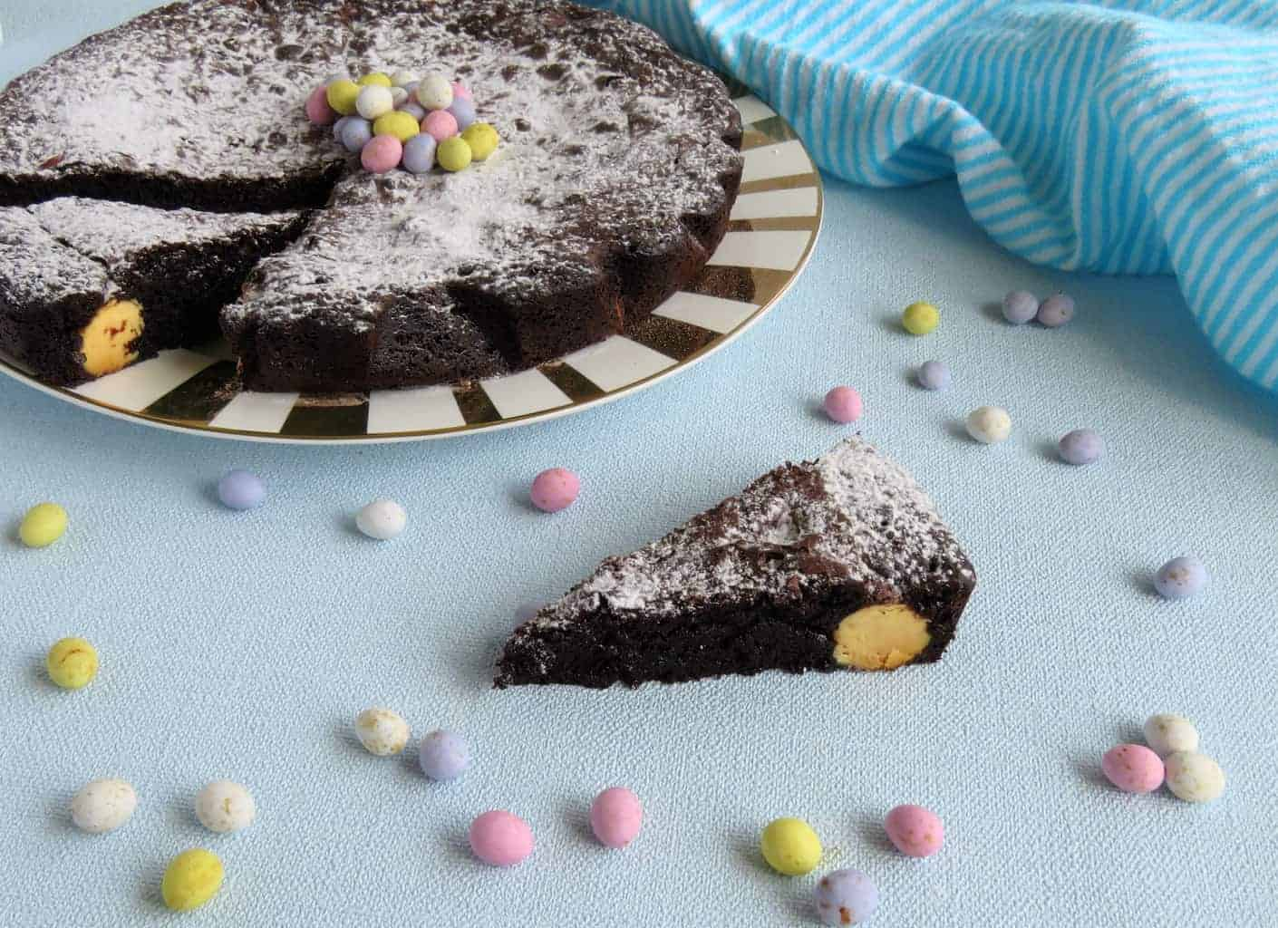 Just A Mum One Pot Brownie with Easter Eggs