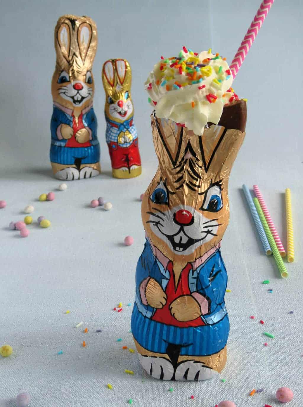 Just A Mum's Chocolate Easter Bunny Milkshakes