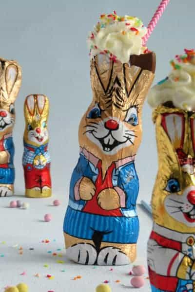 Easy Chocolate Easter Bunny Milkshakes