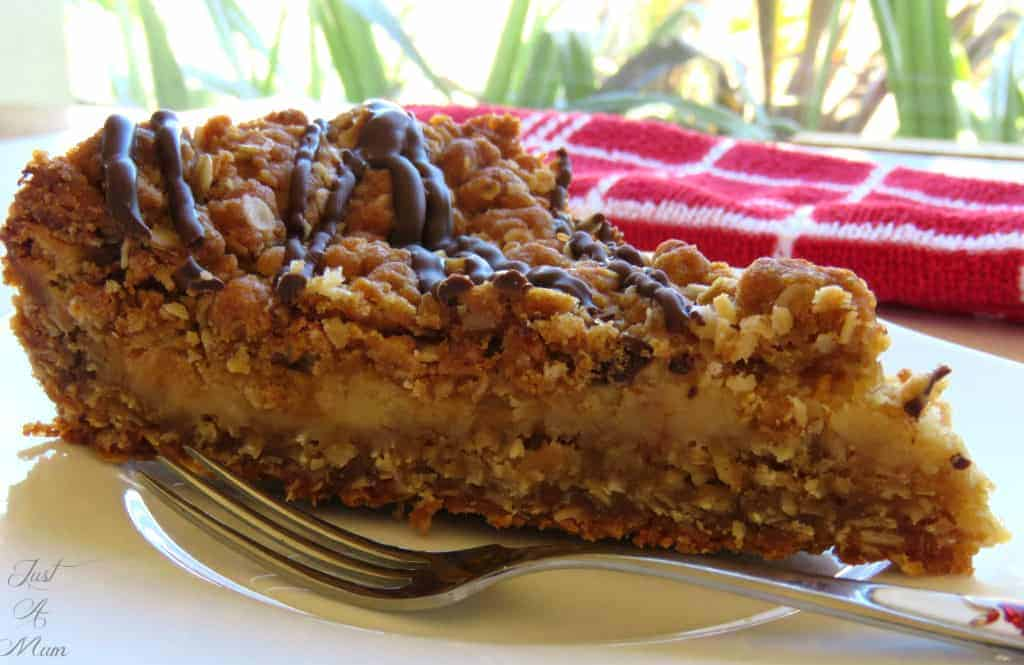 Just A Mum Caramel Anzac Slice