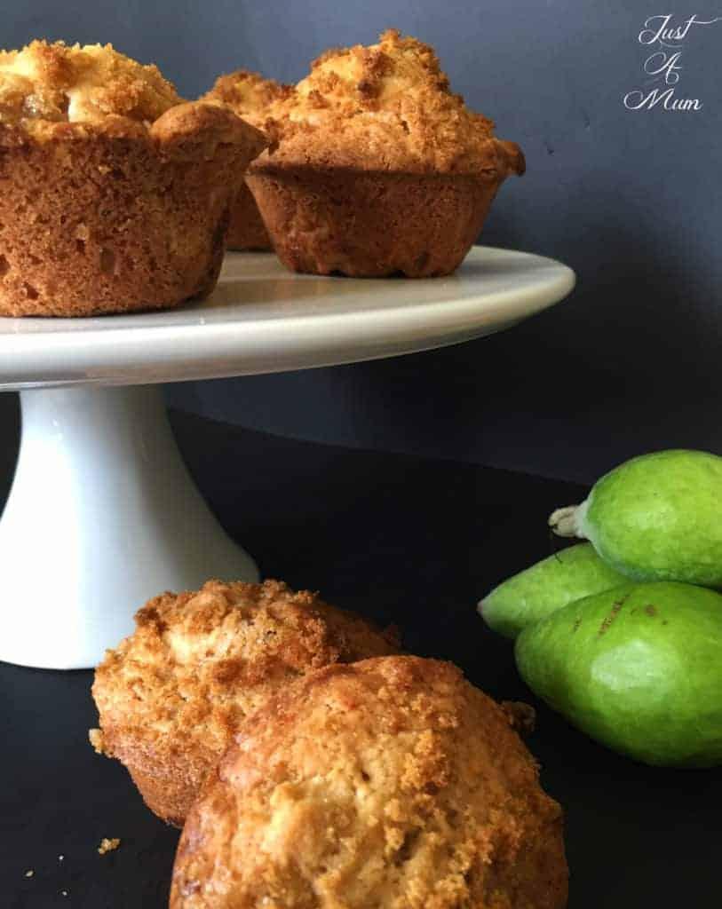 Just A Mum Feijoa Crunch Muffins Recipe