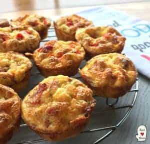 Just A Mum's Mini Crustless Quiches