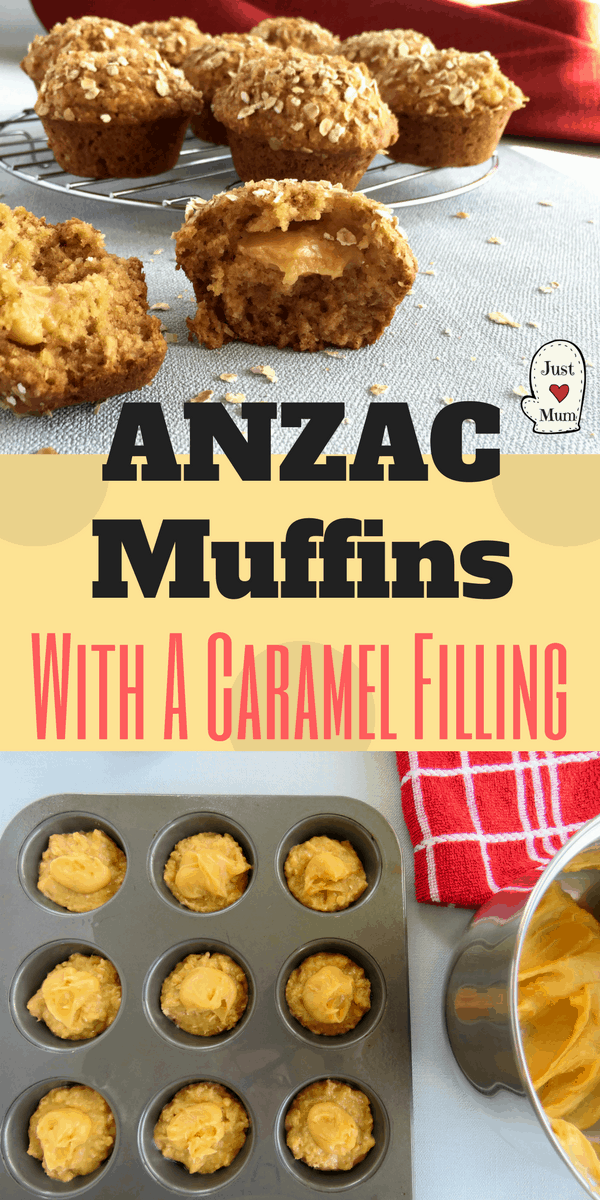Delicious Anzac Muffins with all the flavours you love. Made extra special with the addition of a caramel filling. Simple & Divine!