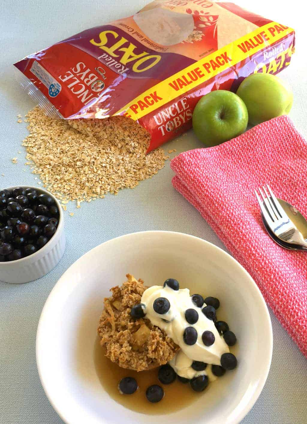 Just A Mum's Rolled Oats Breakfast Cups