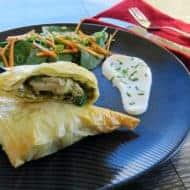 Chicken Mascarpone Pesto Filo Parcels