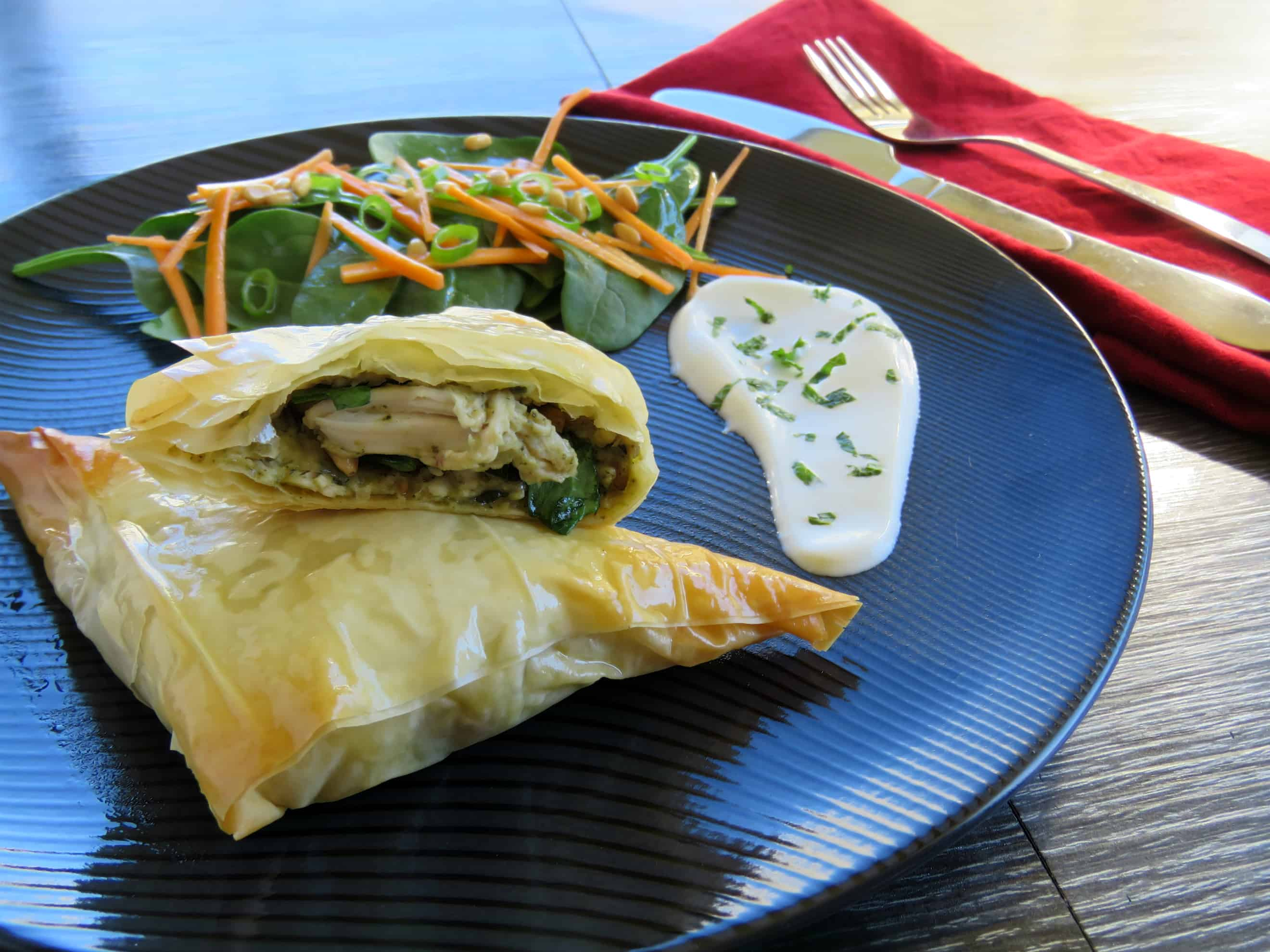 Just A Mum Mascarpone Filo Chicken Parcels