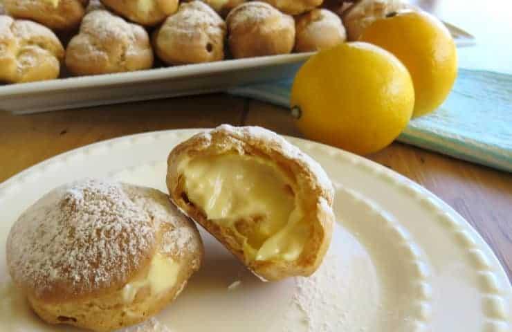 Profiteroles with Créme Fraiche Lemon Filling
