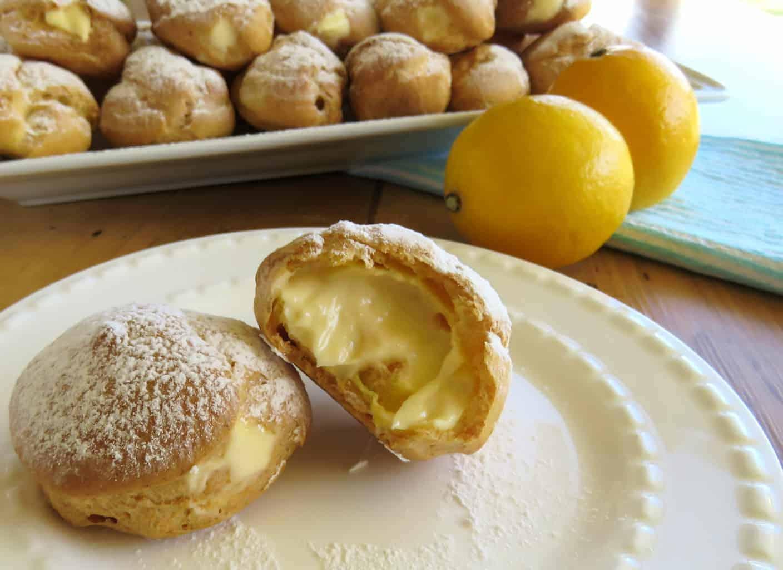 Just A Mum's Creme Fraiche Lemon Profiteroles