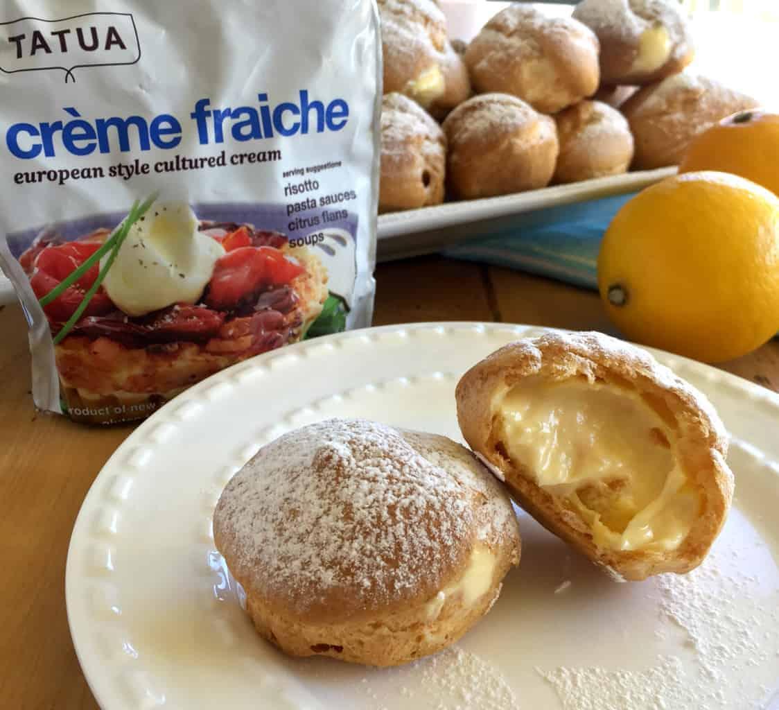 Just A Mum Creme Fraiche Lemon Profiteroles