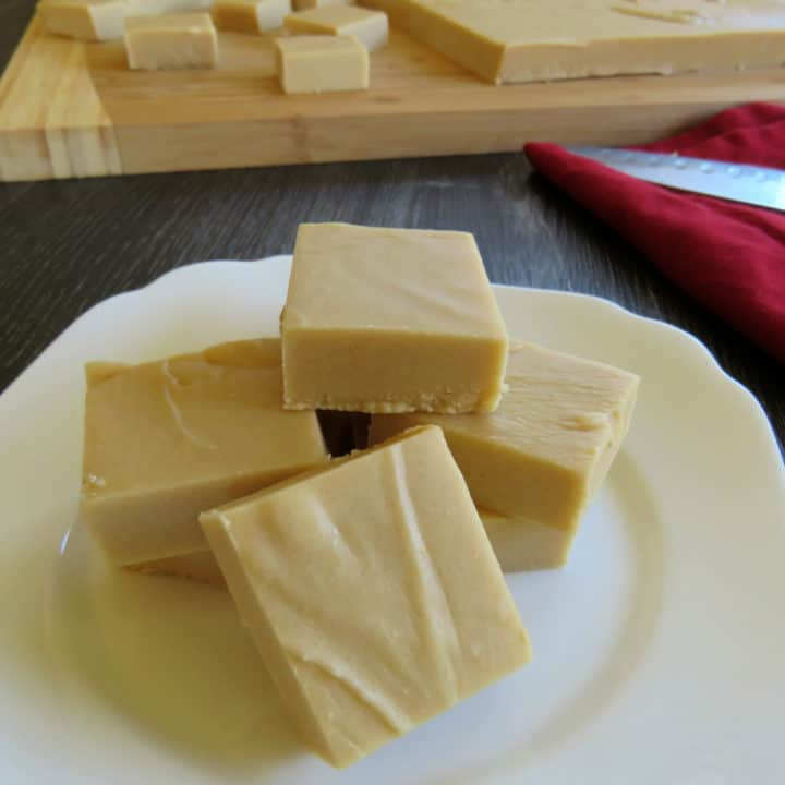Caramel & White Chocolate Microwave Fudge