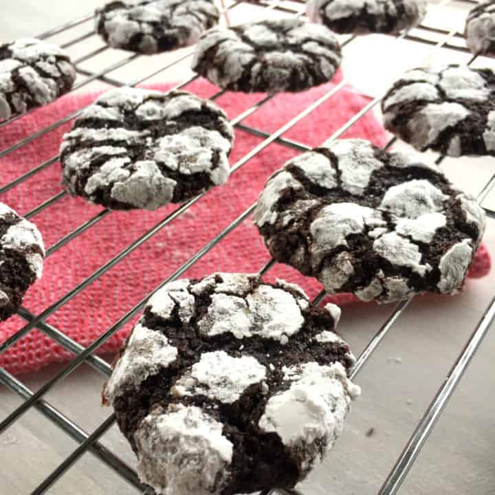 Chocolate Crackle Brownie Biscuits