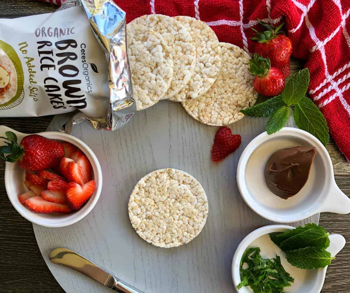 Just A Mum Rice Cake Topping Ideas with Strawberries