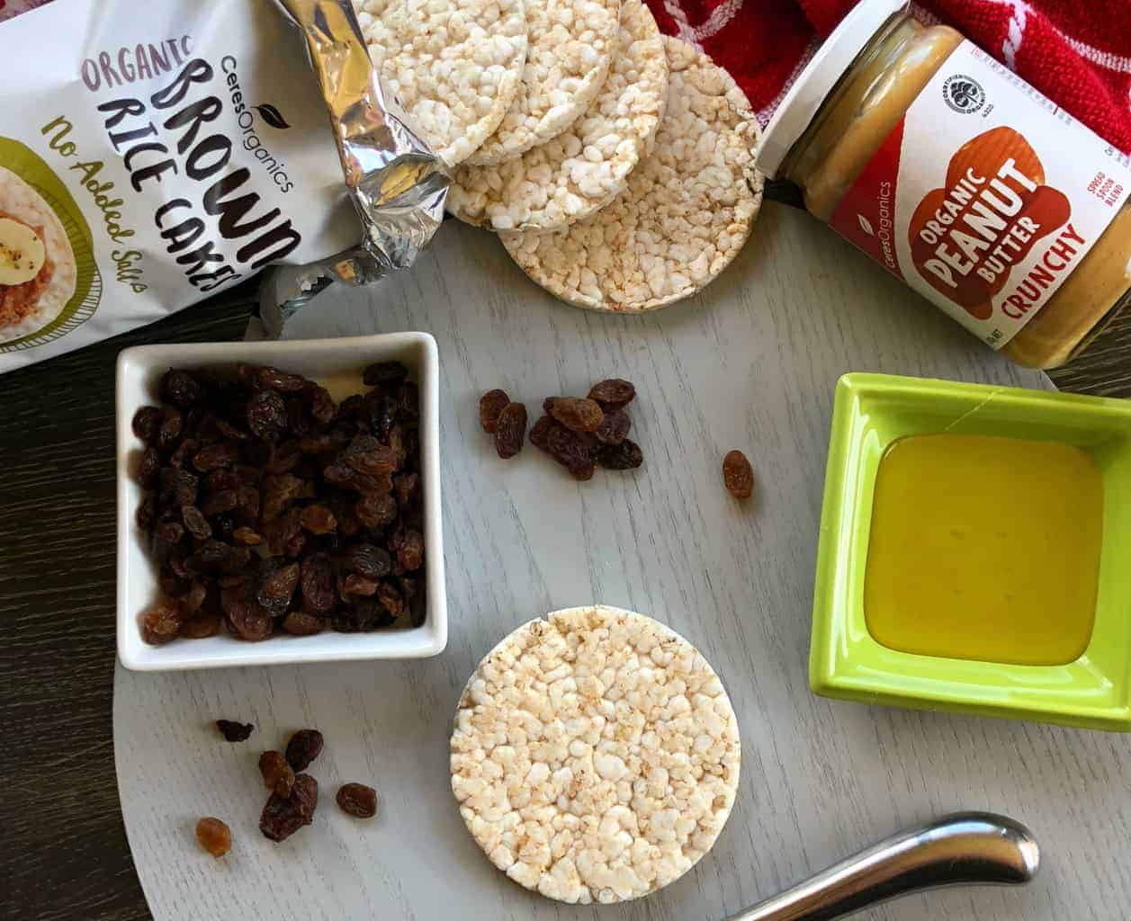 4 Delicious Rice Cake Topping Ideas Ceres Organic Peanut Butter