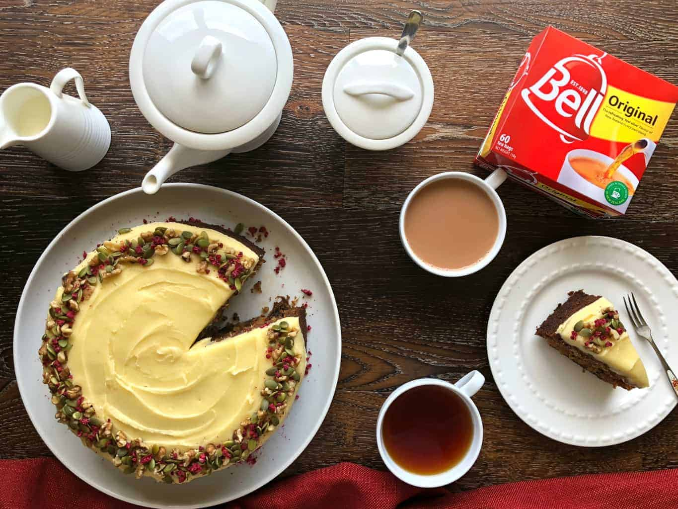 Carrot Cake and Bell Tea Just A Mum