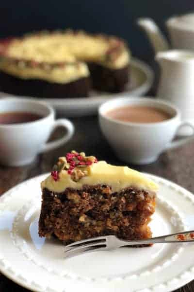 Delicious Carrot, Pineapple & Walnut Cake