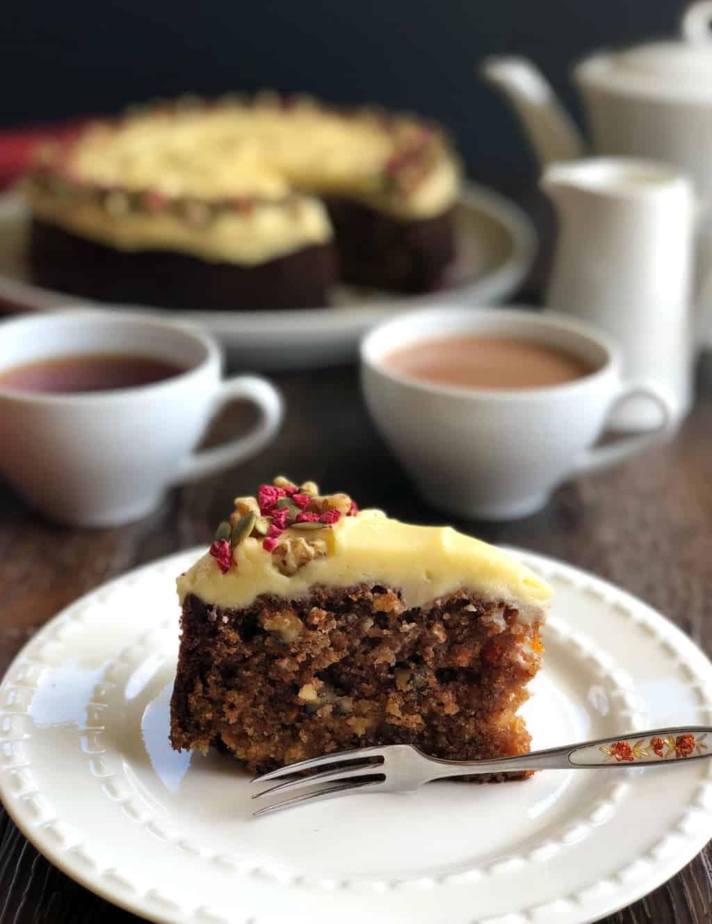 Slice of Carrot, Walnut & Pineapple Cake Just A Mum