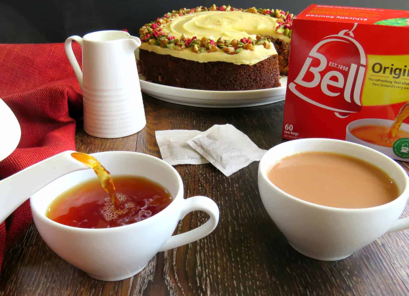 Carrot Cake, Bell Tea, Pouring Tea Just A Mum