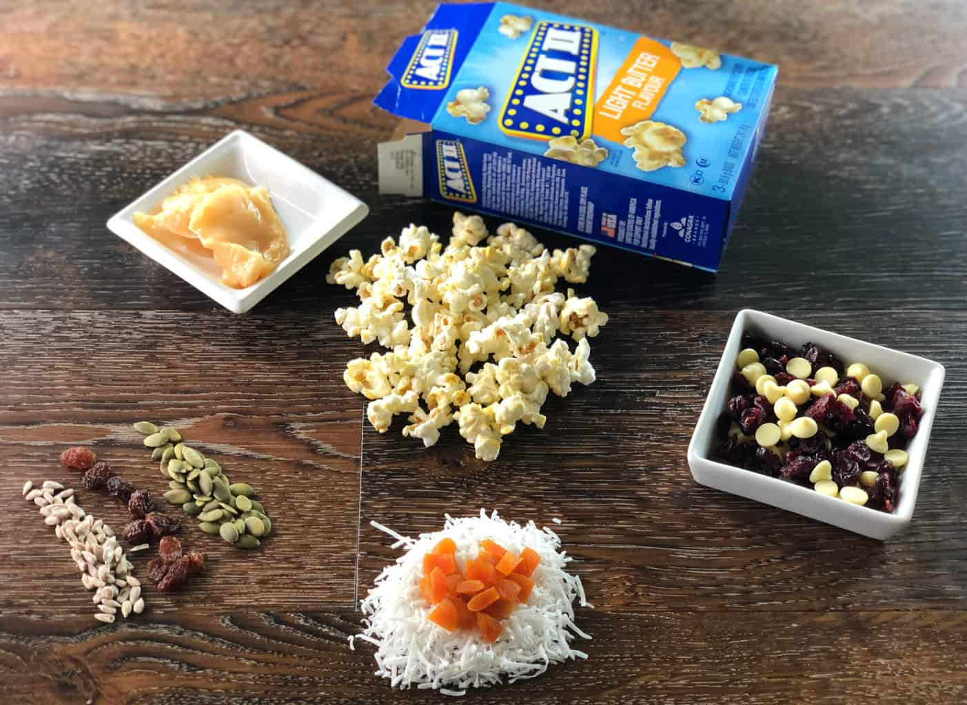 Ingredients for Just A Mum's Honey popcorn bars