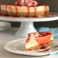 Coconut Ice Cheesecake
