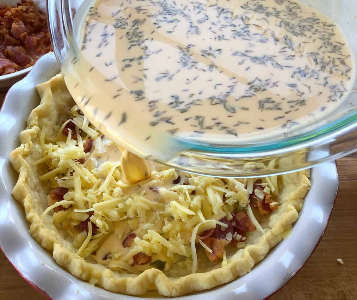 Egg Filling for Quiche Lorraine from Just A Mum