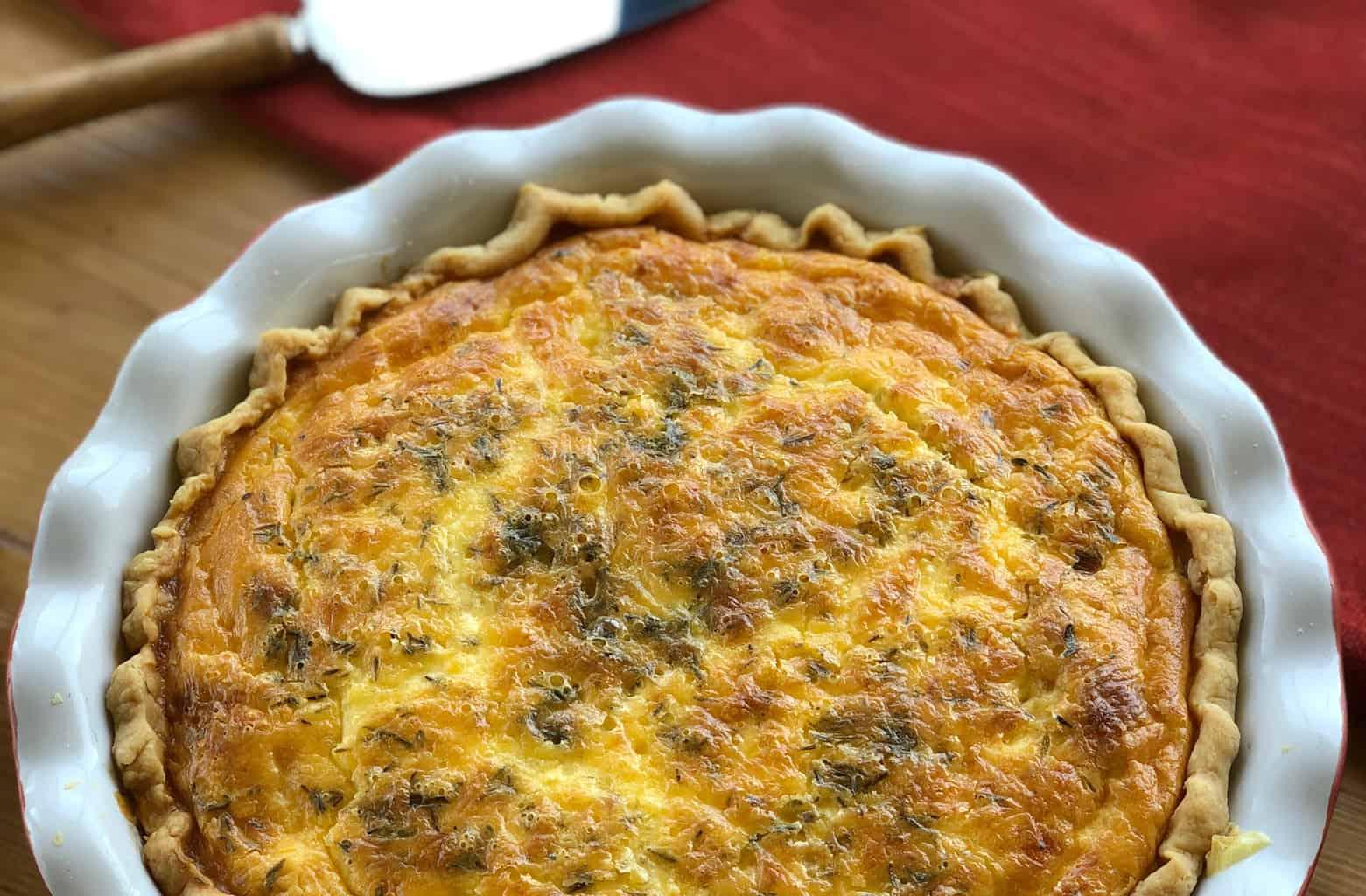 Just A Mum's baked warm Quiche Lorraine