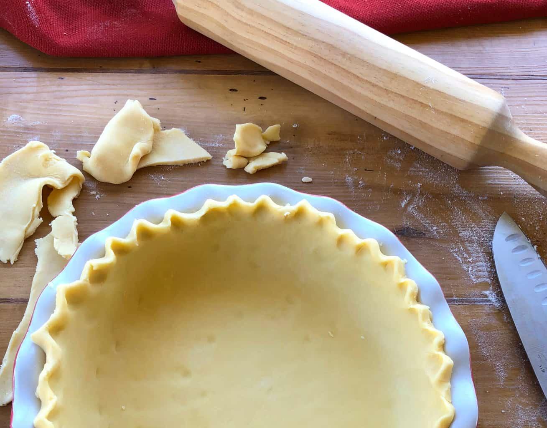 Preparing the Crust for Quiche Lorraine