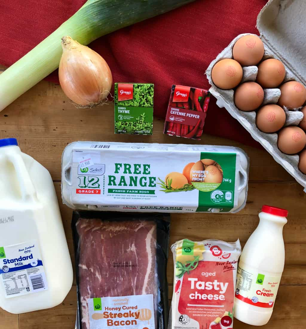 Filling Ingredients for Quiche Lorraine - Just A Mum