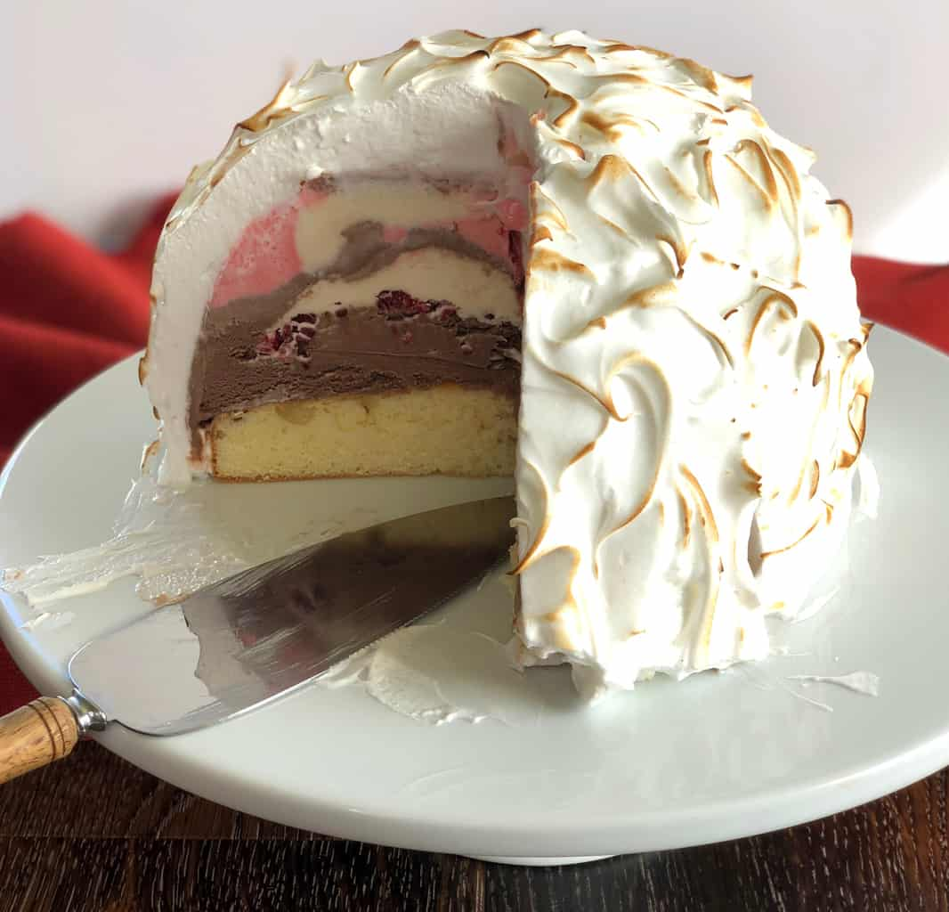 Sliced Baked Alaska - easy recipe