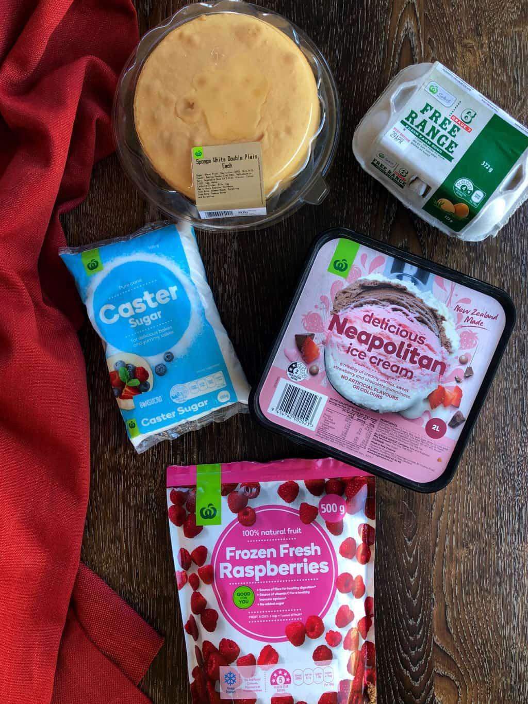 Baked Alaska Ingredients from Countdown Own Brand Range NZ