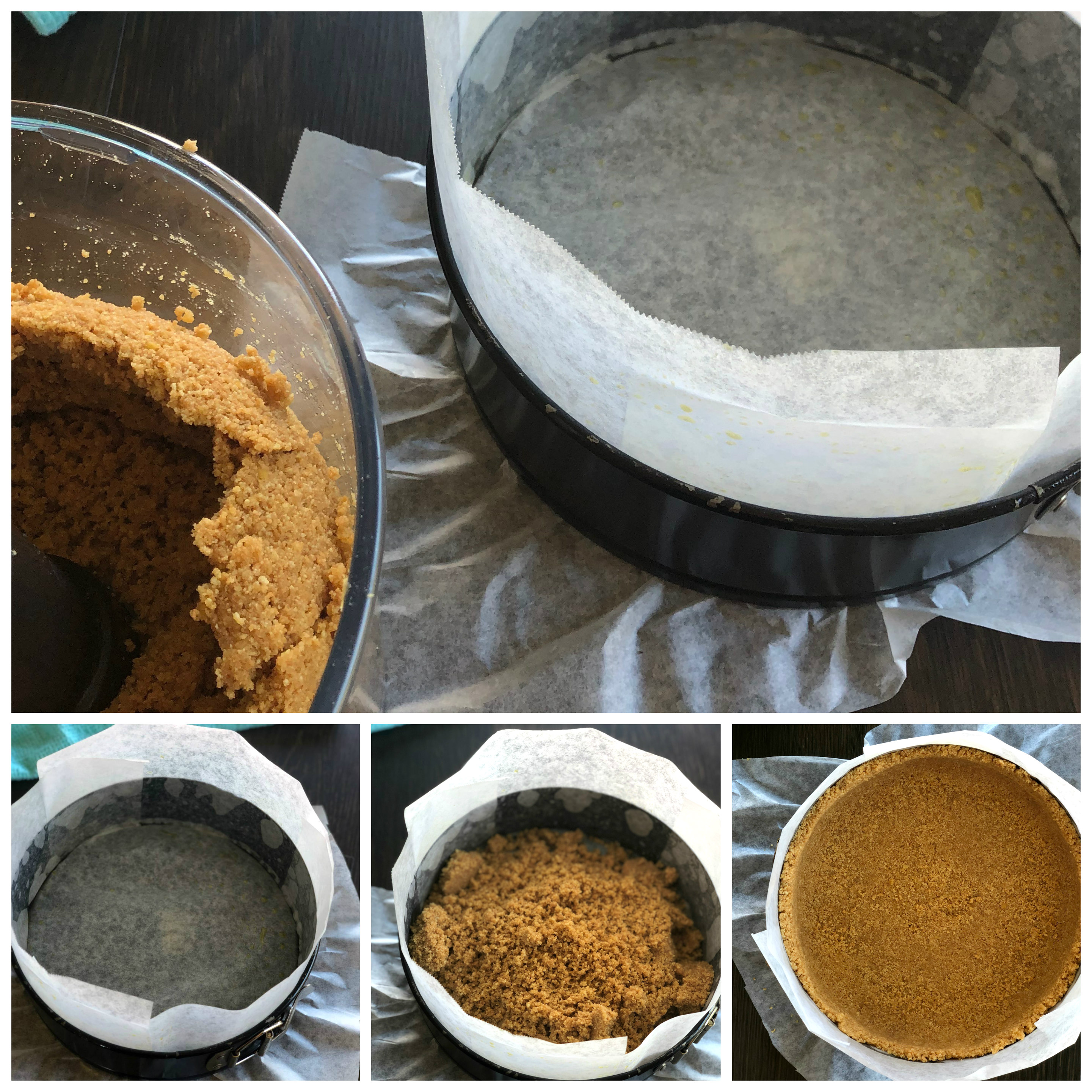 Preparing the Base for a Baked Cheesecake Tips