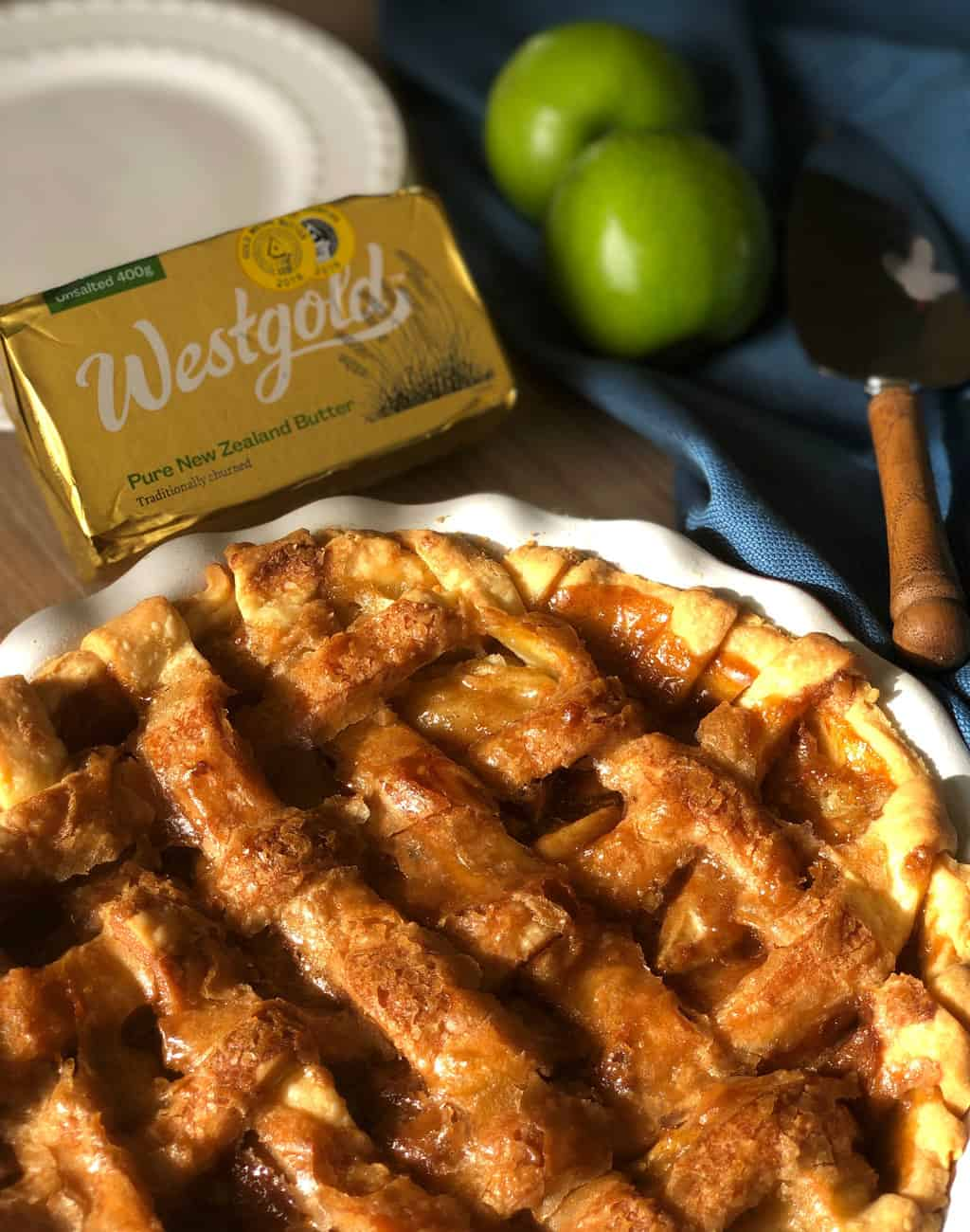 Westgold Butter Partnered with me for Caramel Apple Pie