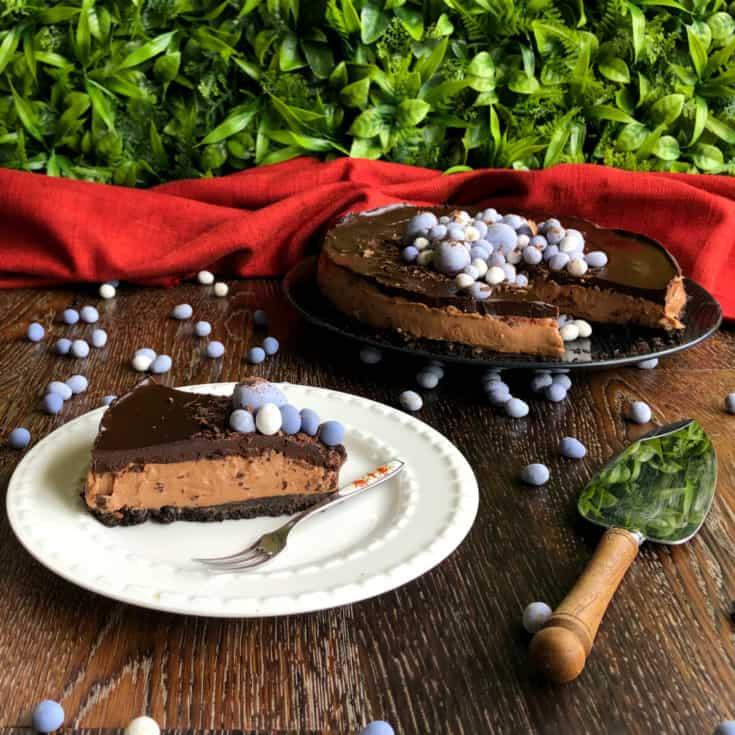 Triple Chocolate Easter Cheesecake