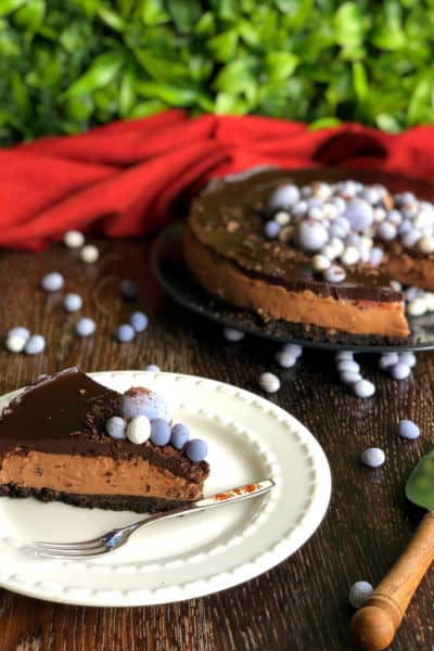 Triple Chocolate Easter Cheesecake