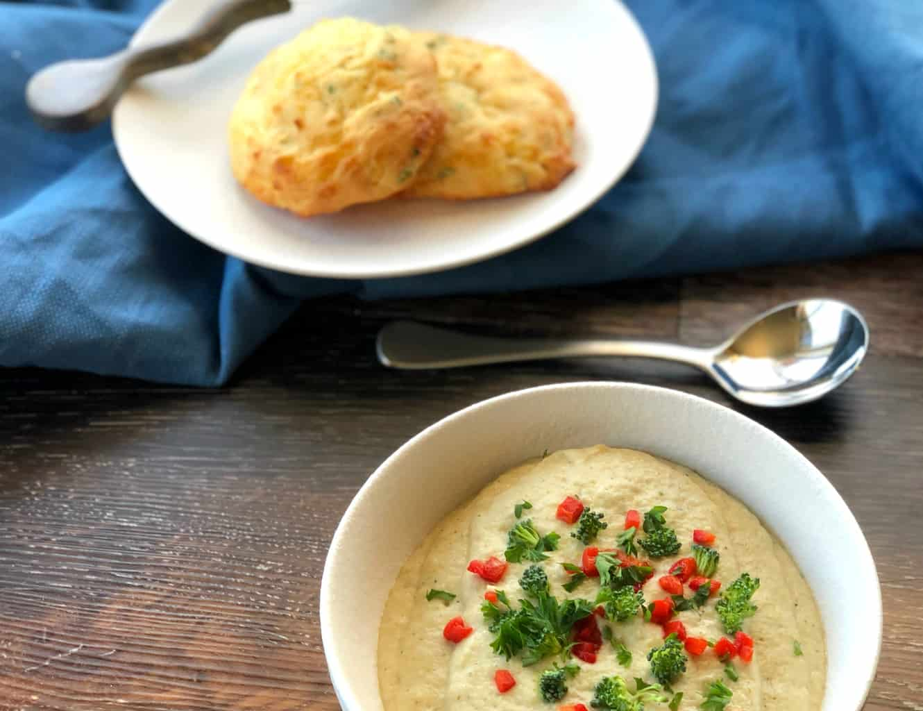 The Best Creamy Cauliflower & Broccoli Soup