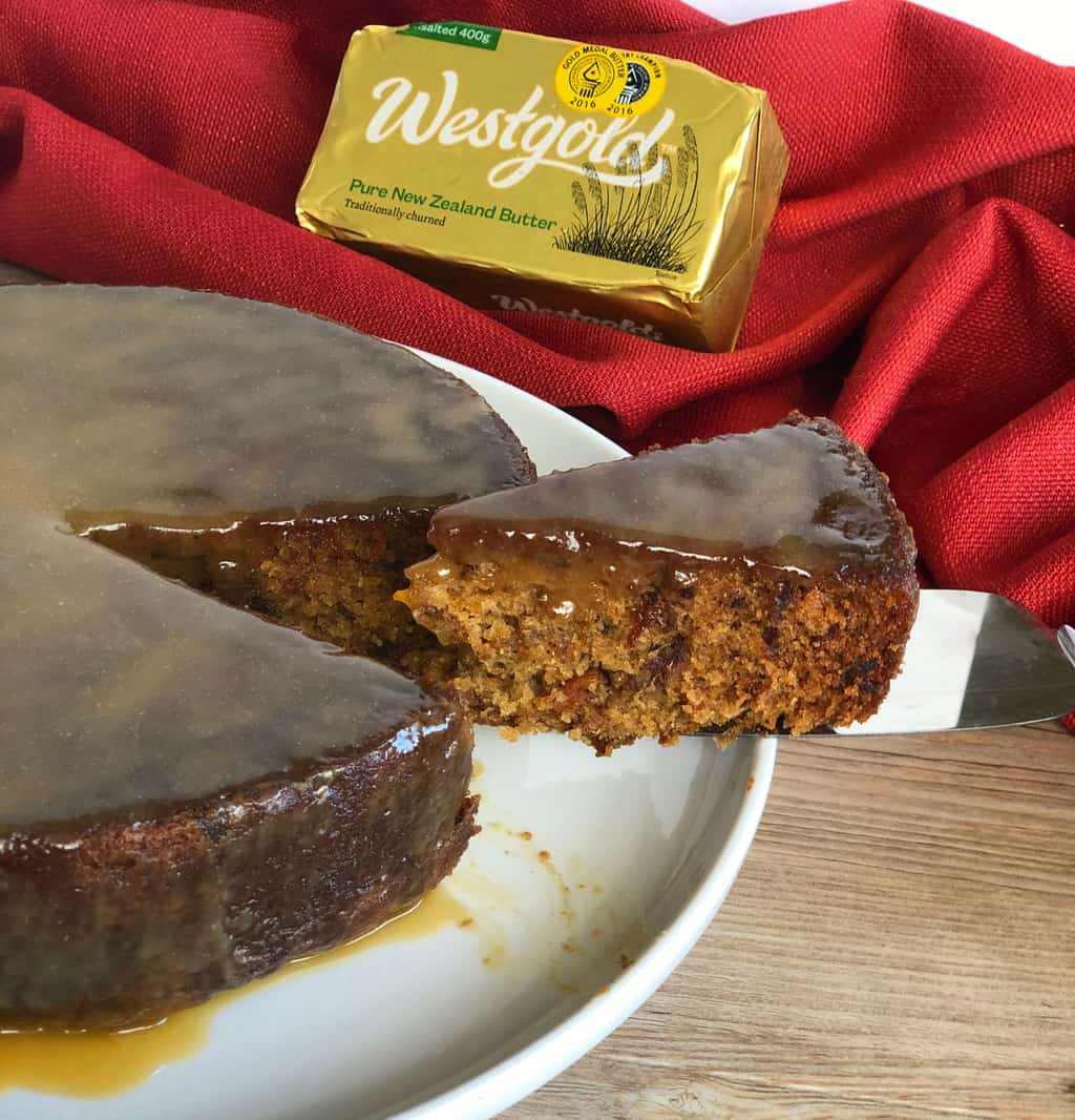 Slice of Sticky Date Pudding with Westgold Butter