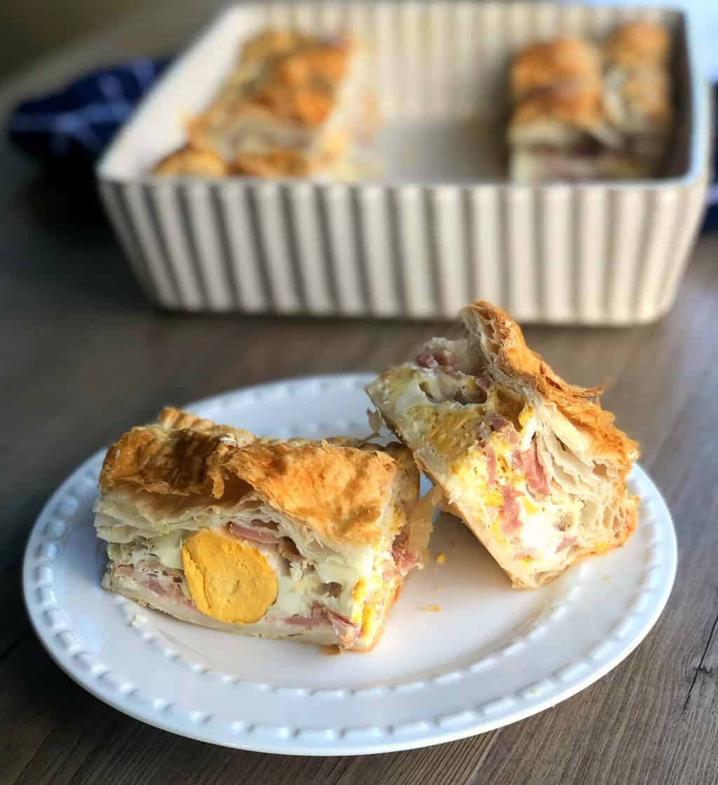 Bacon and Egg Pie Piece