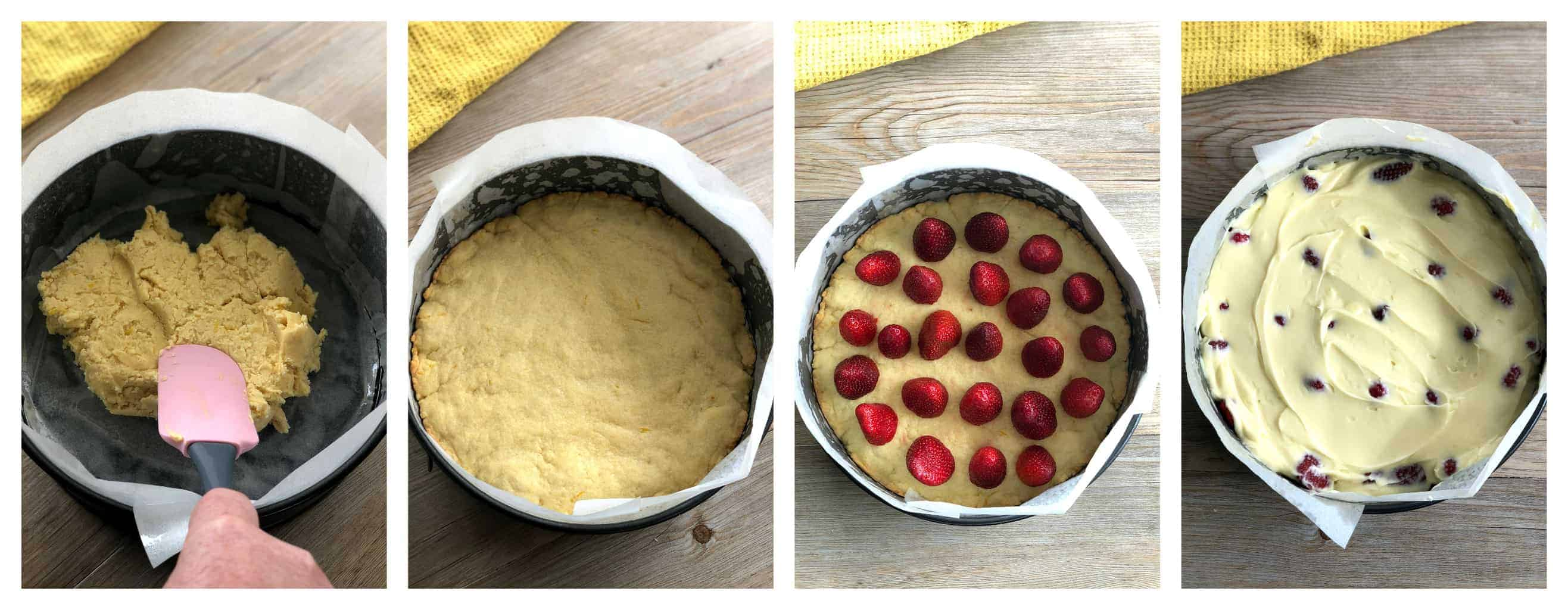 Step by Step Strawberry Shortcake Cheesecake