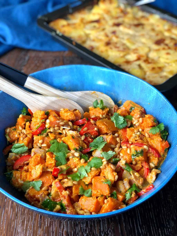 BBQ or PotLuck Ideas - Kumara Salad & Scalloped Potatoes