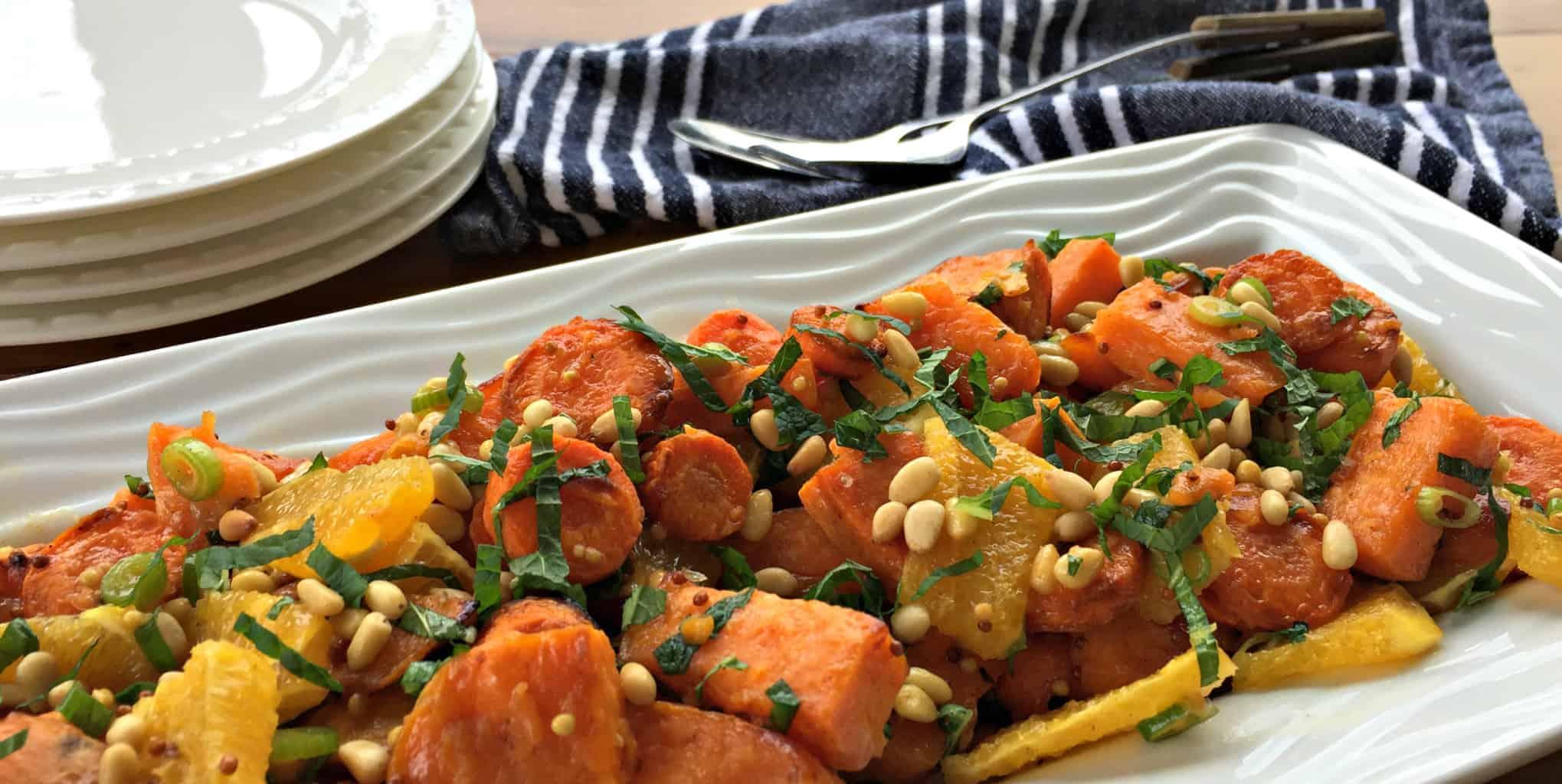 Just A Mums Roasted Kumara, Carrot & Orange Salad