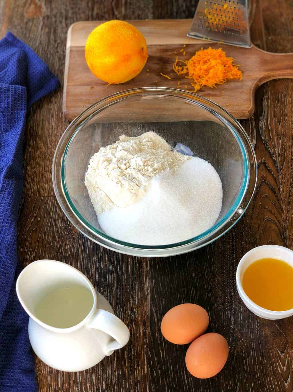 Ingredients for Orange Muffins