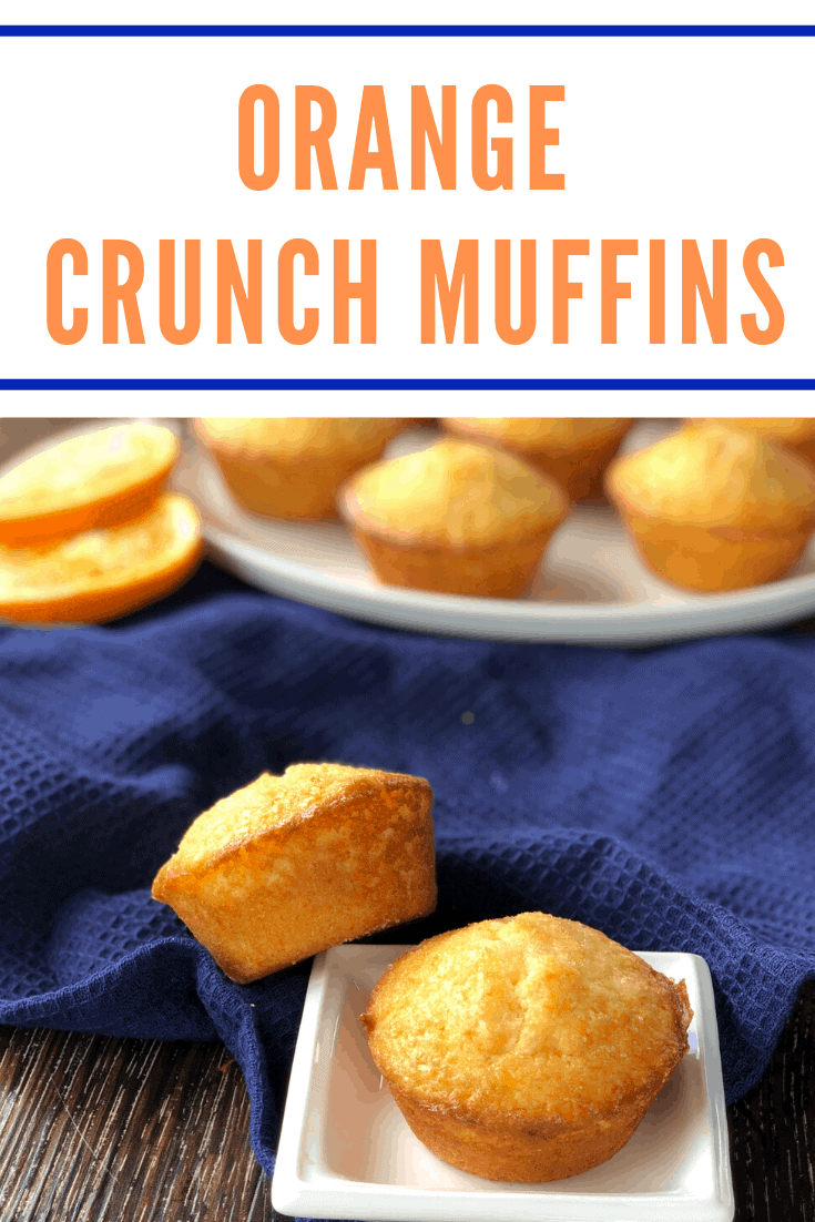 Absolutely delicious recipe for Orange Crunch Muffins. Super simple using every day ingredients with a lovely crunchy sugar syrup topping.