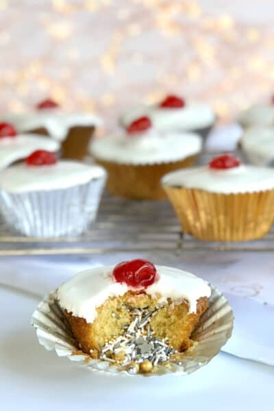 Maple Syrup Surprise Inside Cupcakes