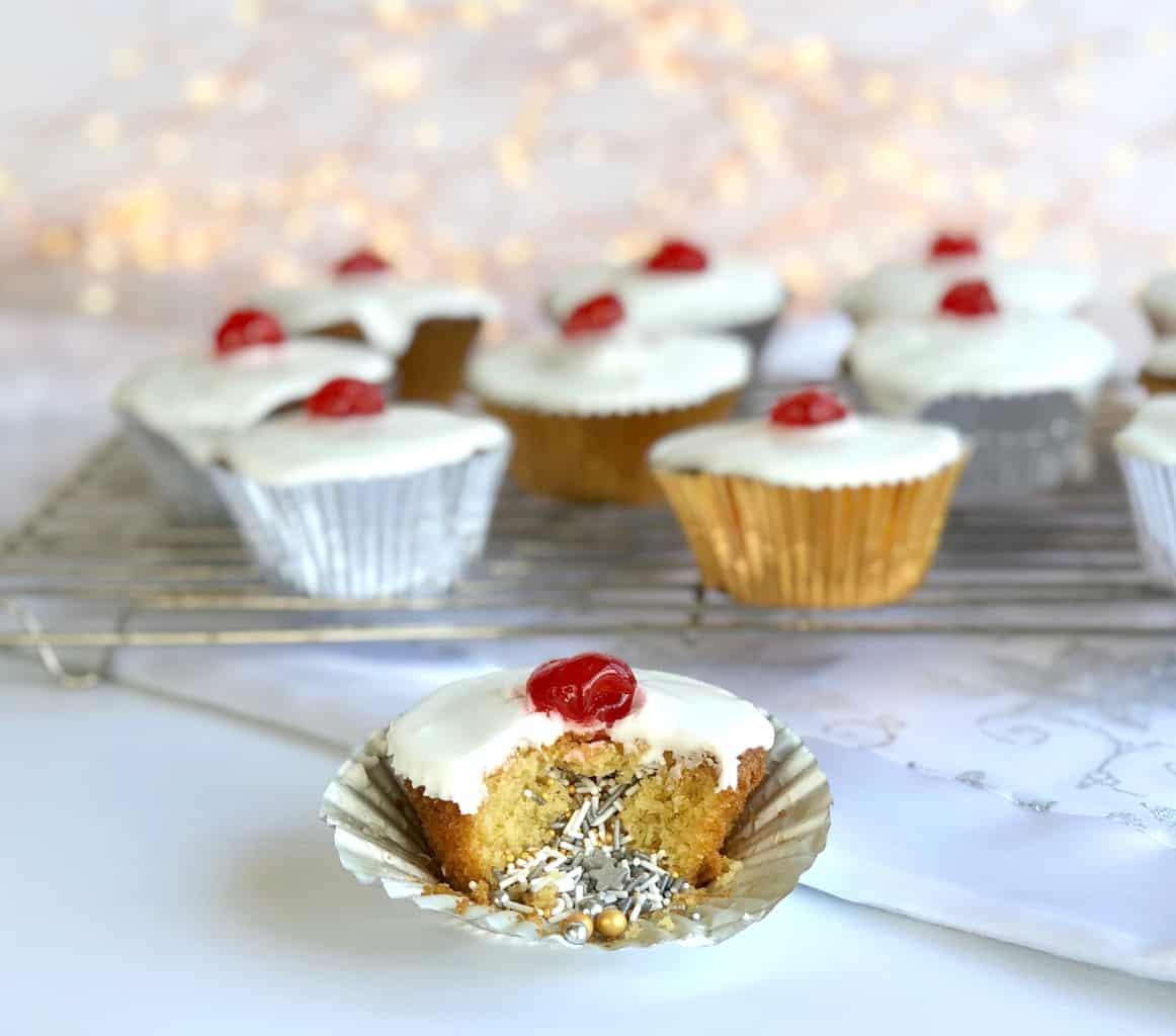 Surprise Inside Sprinkle Cupcakes