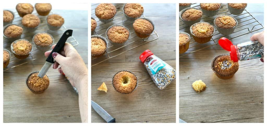 Step by Step to surprise inside cupcakes